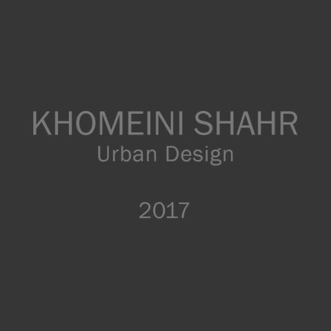 Geometrical plan of the central street of Khomeini  shahr . 2017